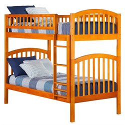 Atlantic Furniture Richland Bunk in Caramel Latte