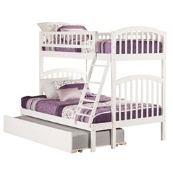 Atlantic Furniture Richland Bunk Twin over Full with Trundle in White