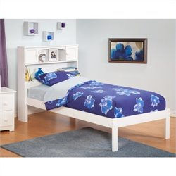 Atlantic Furniture Newport Bookcase Bed with Trundle in White