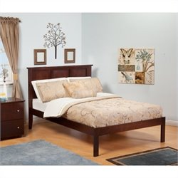 Atlantic Furniture Madison Bed with Trundle in Antique Walnut