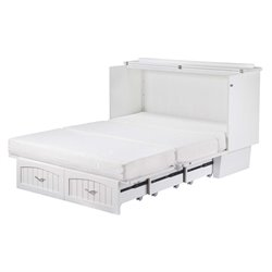 Atlantic Furniture Nantucket Queen Murphy Bed Chest in White