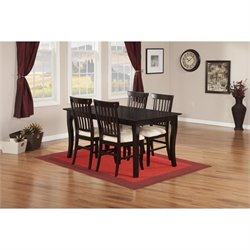 Atlantic Furniture Venetian 5 Piece Dining Set in Espresso