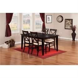 Atlantic Furniture Shaker 5 Piece Dining Set in Espresso II