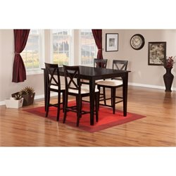 Atlantic Furniture Shaker 5 Piece Pub Set in Espresso II