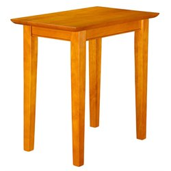 Atlantic Furniture Anderson Chair Side End Table in Caramel Latte