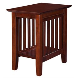 Atlantic Furniture Newberry Chair Side End Table in Walnut
