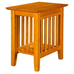 Atlantic Furniture Newberry Chair Side End Table in Caramel Latte