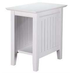 Atlantic Furniture Hampton Chair Side End Table in White