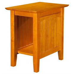 Atlantic Furniture Hampton Chair Side End Table in Caramel Latte