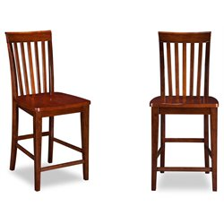 Atlantic Furniture Mission Bar Stools in Walnut (Set of 2)