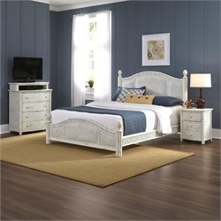 3 Piece Queen Poster Bedroom Set in White