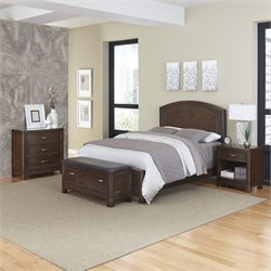4 Piece King Panel Bedroom Set