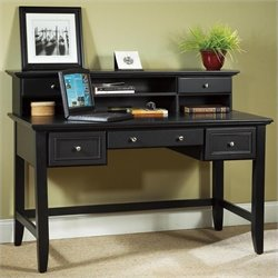 Writing Desk with Hutch in Ebony