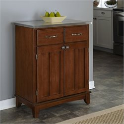 Furniture Cherry Wood Buffet with Stainless Steel Top