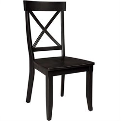 Dining Chair in Rich Black (Set of 2)