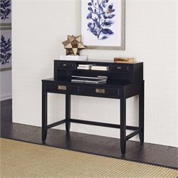 Writing Desk and Hutch in Satin Black