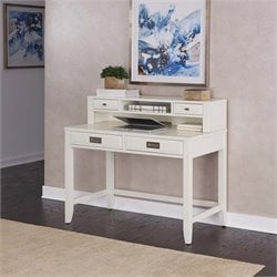 Writing Desk and Hutch in Satin White