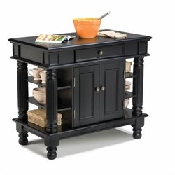 Kitchen Island in Black