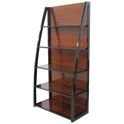 Home Styles Aero 5 Shelf Media Tower in Black