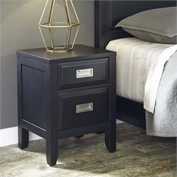 Home Styles Prescott 2 Drawer Nightstand in Black