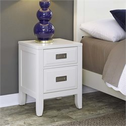 Home Styles Newport 2 Drawer Nightstand in White