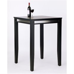 Solid Wood Bar Height Pub Table in Black