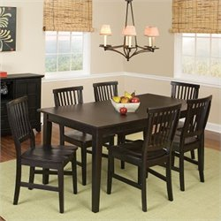 7 Piece Dining Set in Ebony