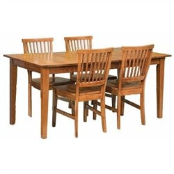 Arts and Crafts 5 Piece Dining Set in Cottage Oak