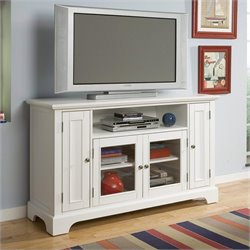 Entertainment Credenza in White
