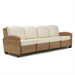 Home Styles Cabana Banana 4 Section Sofa in Honey