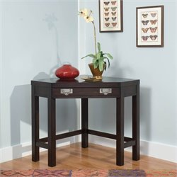 Home Styles City Chic Corner Laptop Desk / Occasional Table in Espresso