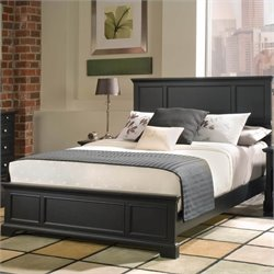 Queen Panel Bed in Ebony