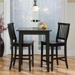 3 Piece Bistro Set in Ebony