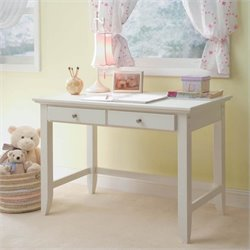 Student Desk in White Finish
