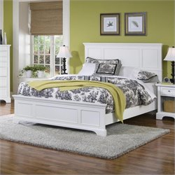 Queen Panel Bed in White Finish