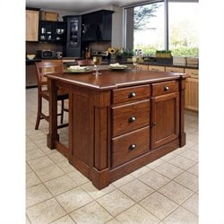 Kitchen Island & Two Stools