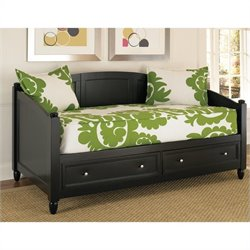 Storage Wood Daybed in Black