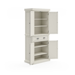 Pantry in Distressed White Finish