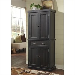 Pantry in Distressed Black Finish
