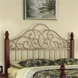 Spindle Headboard Cherry and Gold
