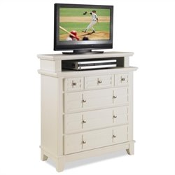 TV Media Chest in White Finish