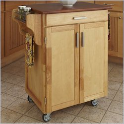 Kitchen Cart with Oak Top in Natural