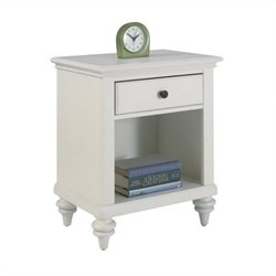 Night Stand in Brushed White Finish