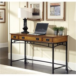 Home Styles Modern Craftsman Executive Desk in Deep Brown