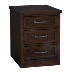 Home Styles Cabin Creek Mobile Filing Cabinet in Chestnut Finish