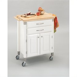 Furniture Madison Prep and Serve Kitchen Cart in White Finish