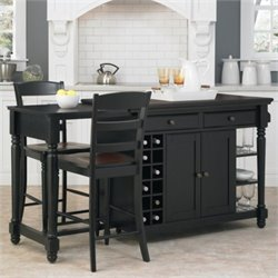 Kitchen Island and Two Stools