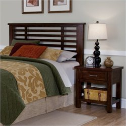 Headboard and Night Stand in Chestnut Finish