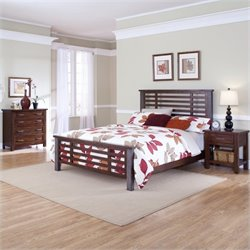 3 Piece Bedroom Set in Chestnut Finish
