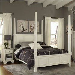 Poster 2 Piece Bedroom Set (Bed and Night Stand) in White
